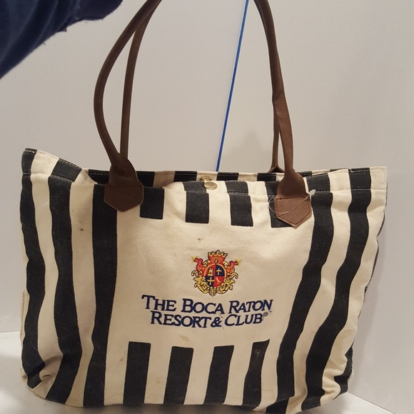 b848c0a15b79 Boca Raton Handbags - Vintage Boca Raton Resort and Club Striped Black
